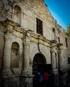 The entry of the Alamo