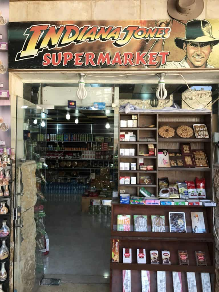 There's lots of Indiana Jones merch at Petra