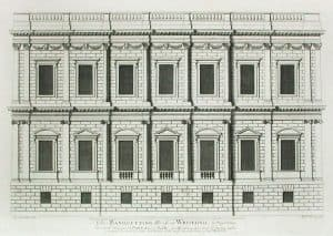 The Banqueting House at the Palace of Whitehall in London, England from Colen Campbell's ''Vitruvius Britannicus'' (several volumes early to mid 18th century, specific volume not known.