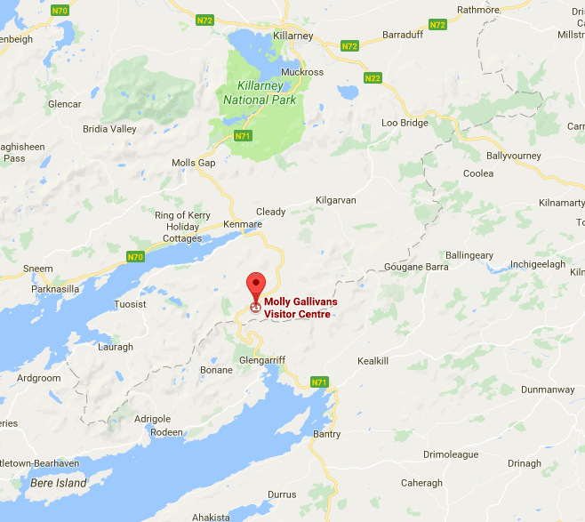 Molly Gallivan's is near Kenmare and a good day trip idea from Killarney.