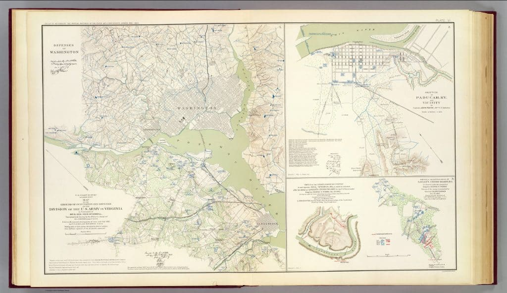 A map from the United States War Department created by Cleveland Rockwell and F.W. Dorr from the David Rumsey Historical Map Collection