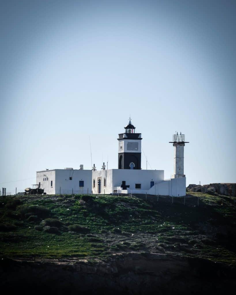 Lighthouse at Cape Angela - Photographs of Tunisia Historical Sites
