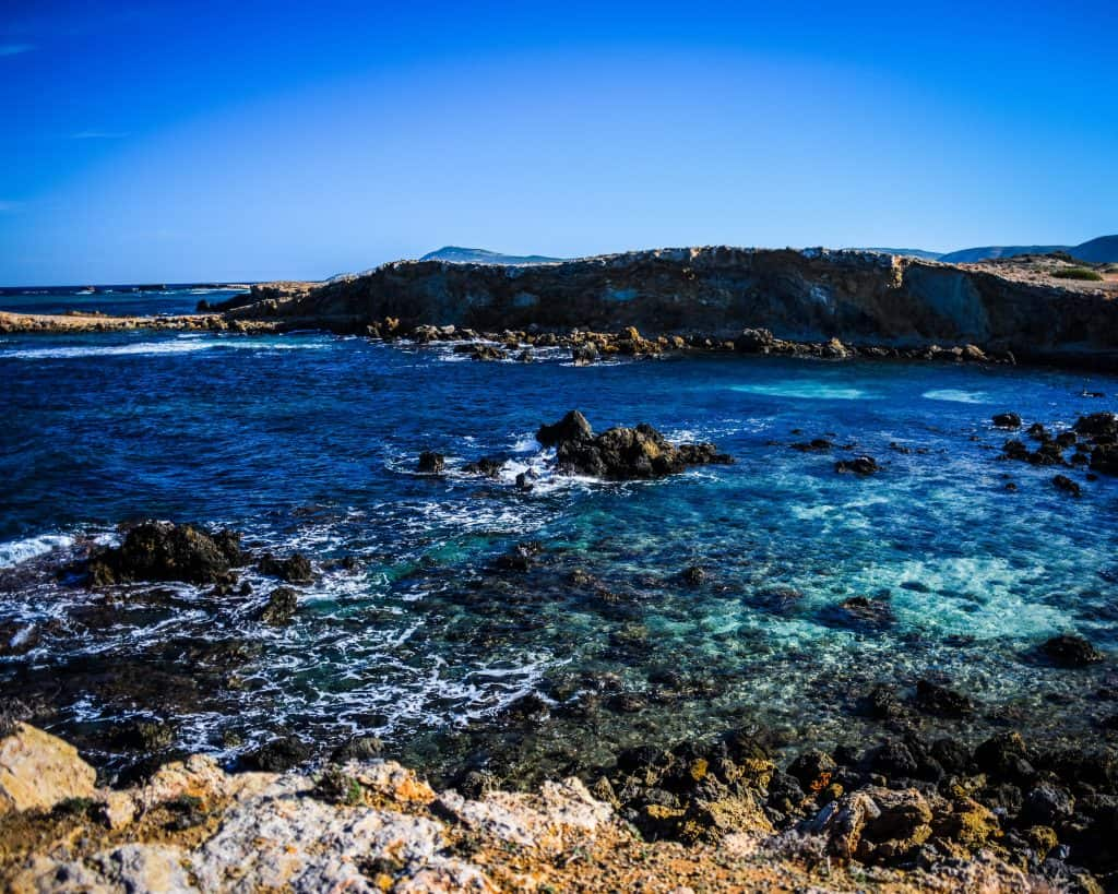 The rocky shores of Cape Angela - Photographs of Tunisia Historical Sites