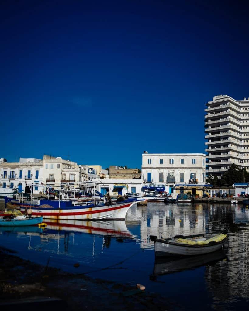 The Bizerte harbor - Photographs of Tunisia Historical Sites