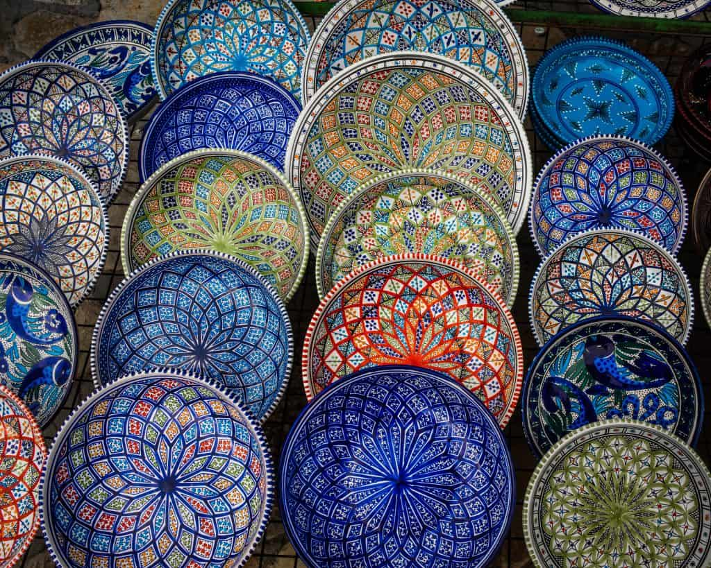 Window shopping in the Medina of Sousse - Photographs of Tunisia Historical Sites