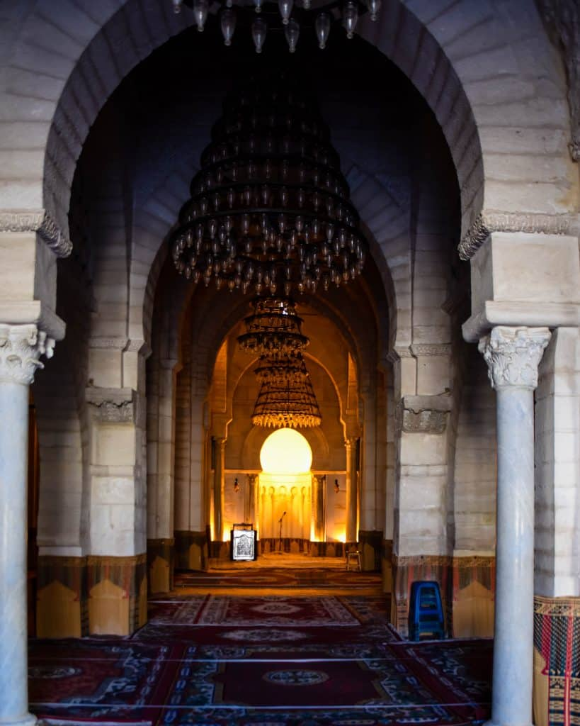 Inside the Great Mosque of Sousse - Photographs of Tunisia Historical Sites
