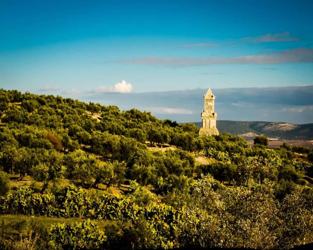 Dougga's Mausoleum - Photographs of Tunisia Historical Sites