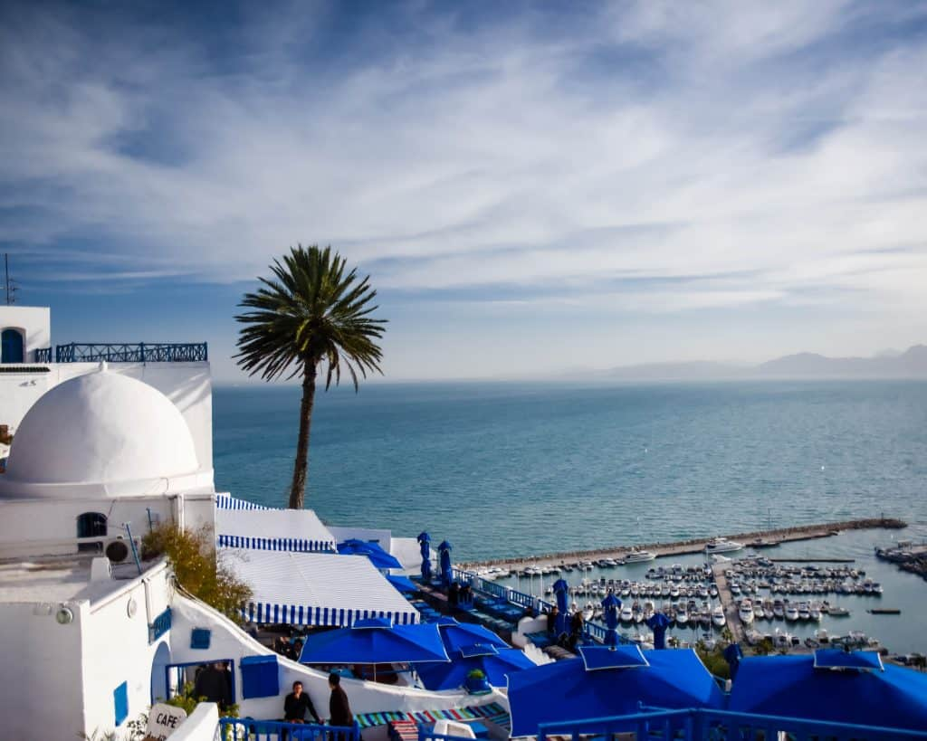 The View from Cafe Delices - Photographs of Tunisia Historical Sites