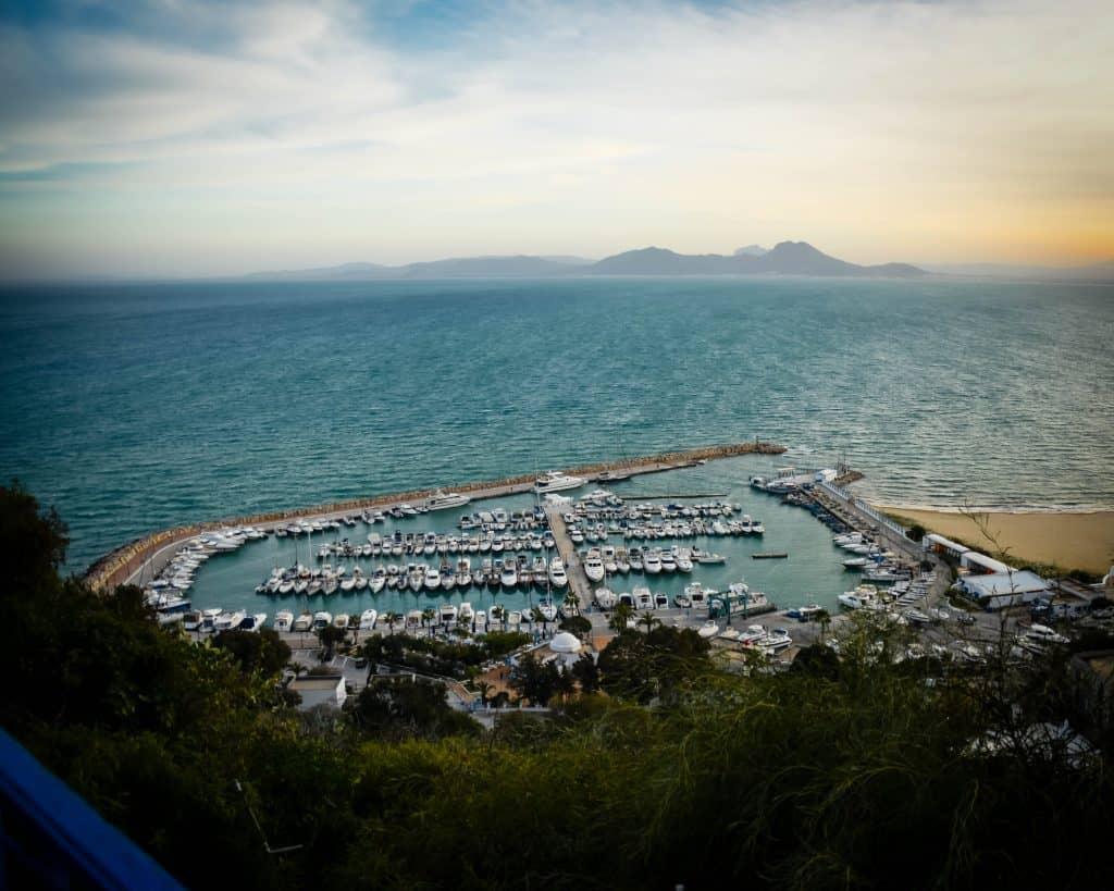 Sidi Bou Said's Harbor - Photographs of Tunisia Historical Sites