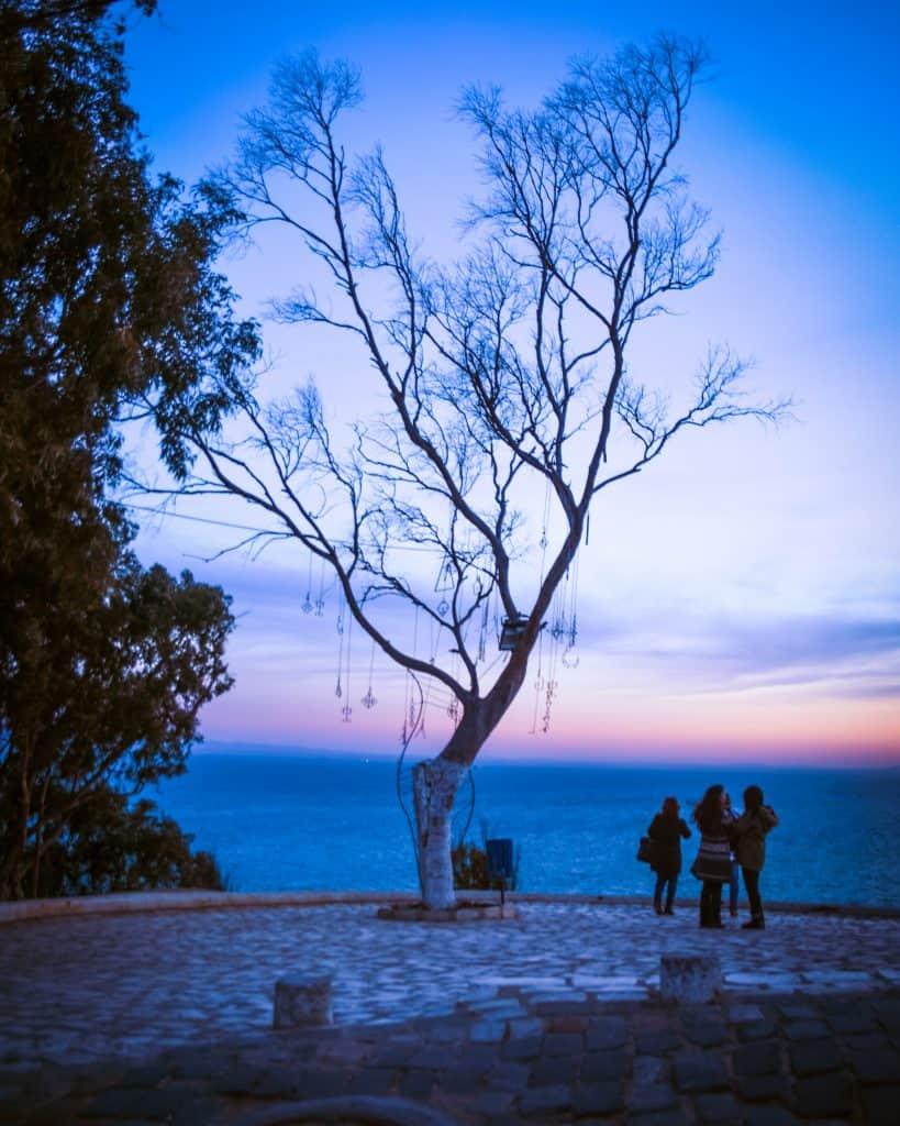 Sunset in Sidi Bou Said - Photographs of Tunisia Historical Sites
