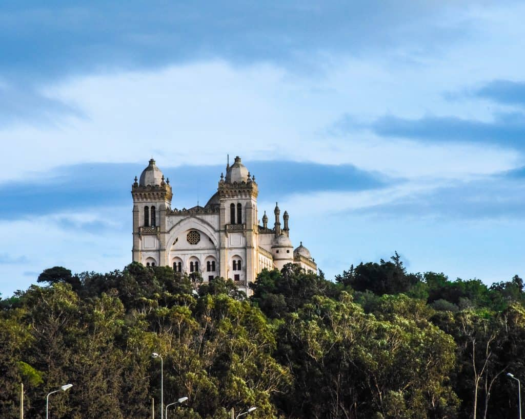 Saint Louis Cathedral in Carthage - Photographs of Tunisia Historical Sites