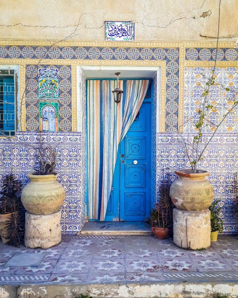 Of all the beautiful doors I saw in Tunisia, this one might be near the very top of my list! - Photographs of Tunisia Historical Sites