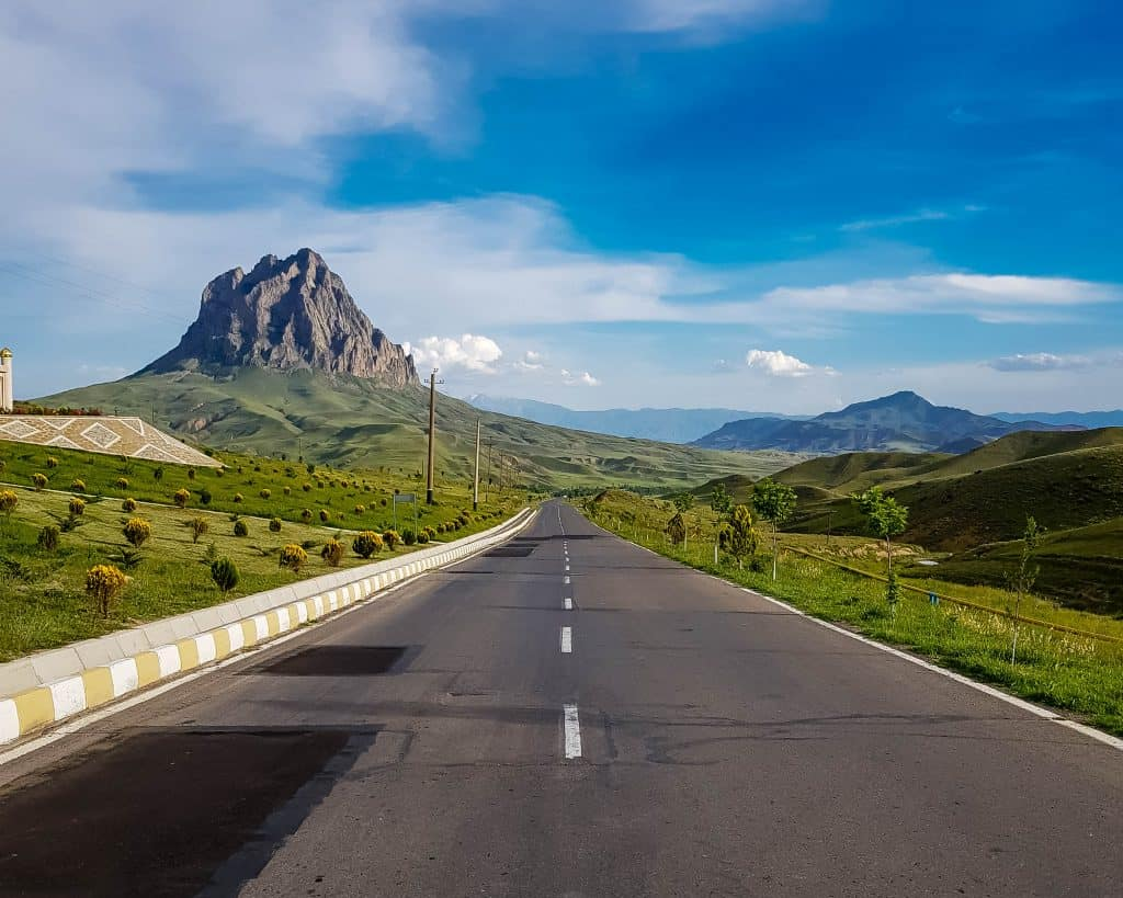 Azerbaijan - Nakhchivan - Mountains and Highway