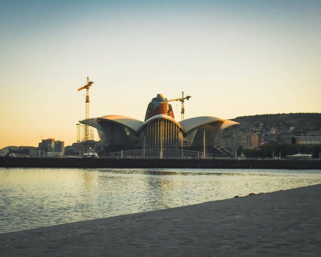 Azerbaijan - Baku - Caspian Sea and Modern Architecture