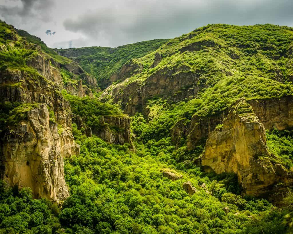 The cliffs of the Azat Valley