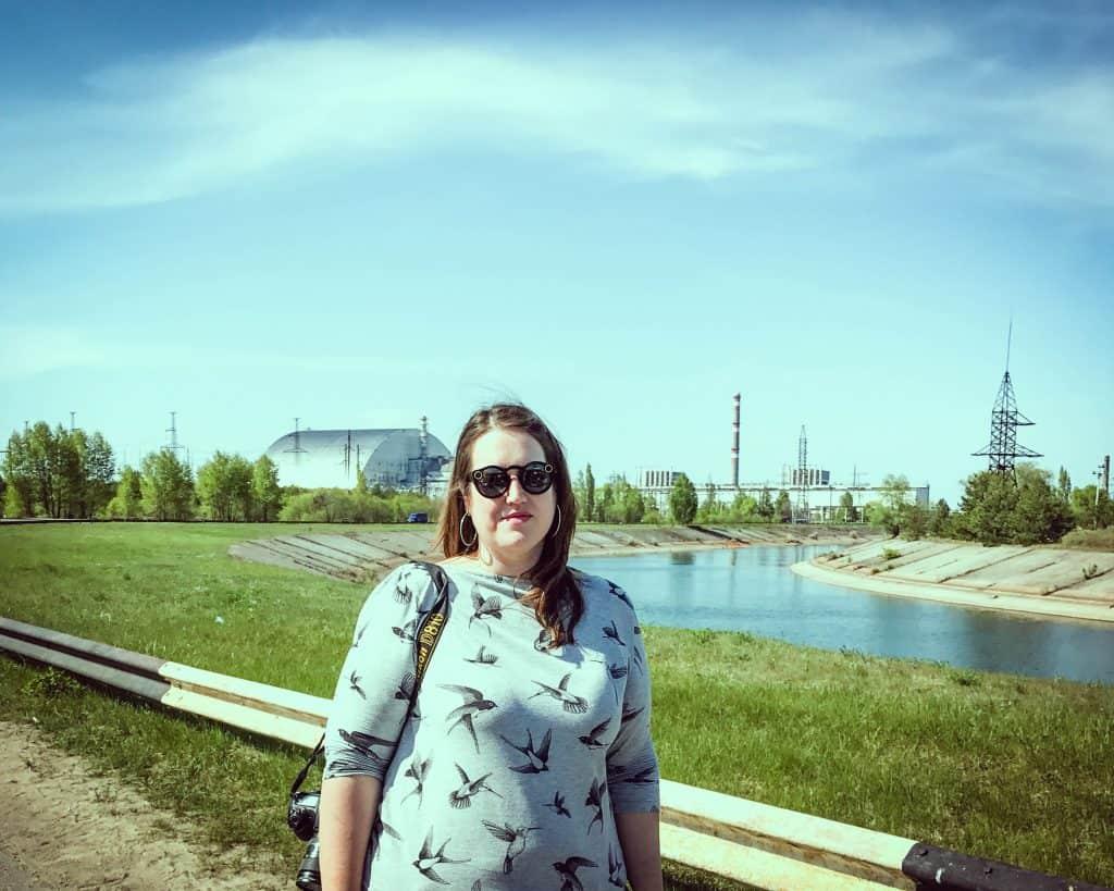 Ukraine - Chernobyl - In front of Reactor 4