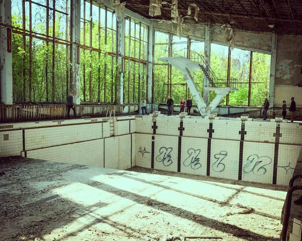 Ukraine - Chernobyl - Pripyat Swimming Pool