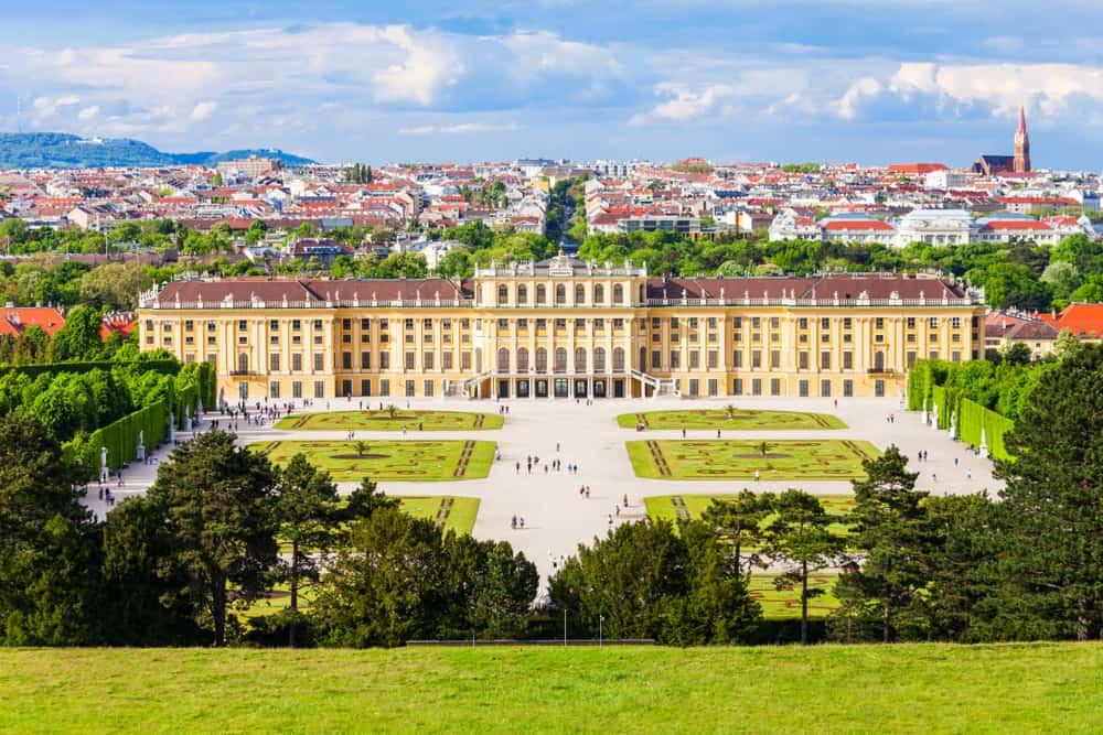 Schonbrunn Palace or Schloss Schoenbrunn is an imperial summer residence in Vienna, Austria. Schonbrunn Palace is a major tourist attraction in Vienna, Austria.