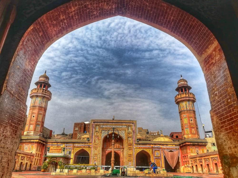 beautiful view of Wazir khan masjid lahore Pakistan