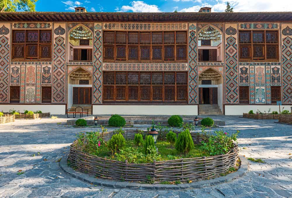 Ancient Palace of Shaki Khans in Azerbaijan. Built in 18th century