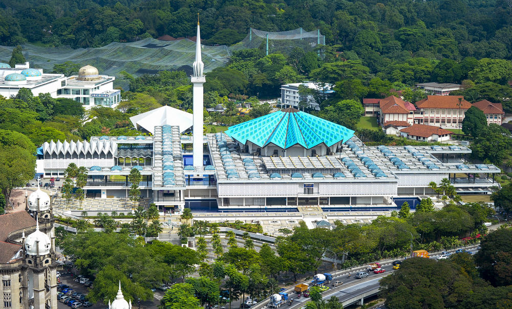 National Mosque, Kuala Lumpur, Malaysia.
