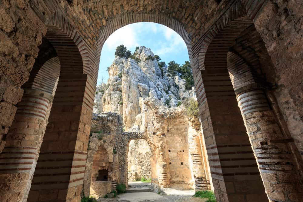 Fairy Tale Castle of Saint Hilarion in Northern Cyprus