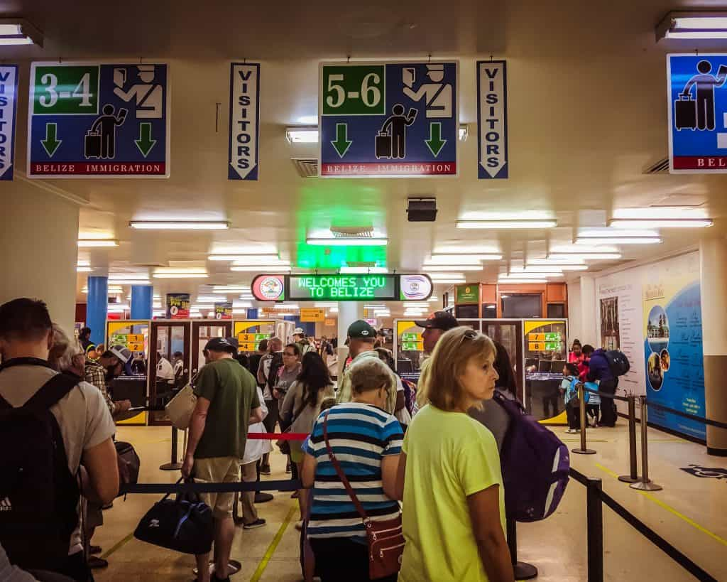 Make sure to add time for getting through customs at the airport in Belize City