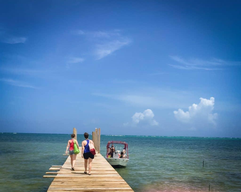 Belize - San Pedro - Leaving to Go Snorkeling