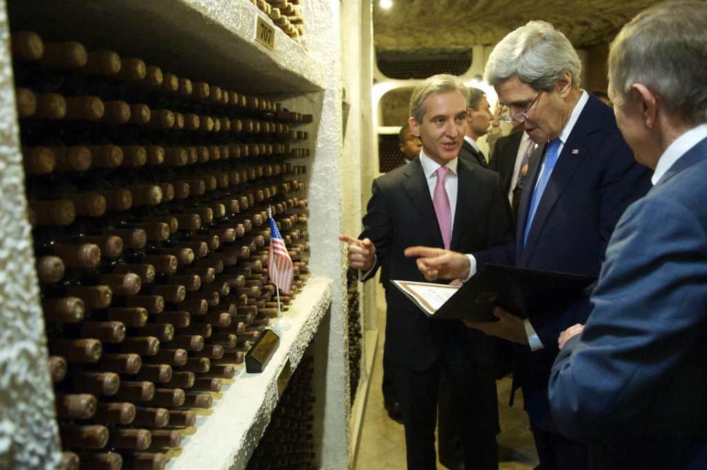 Molodva - Cricova Winery - Secretary John Kerry touring the winery