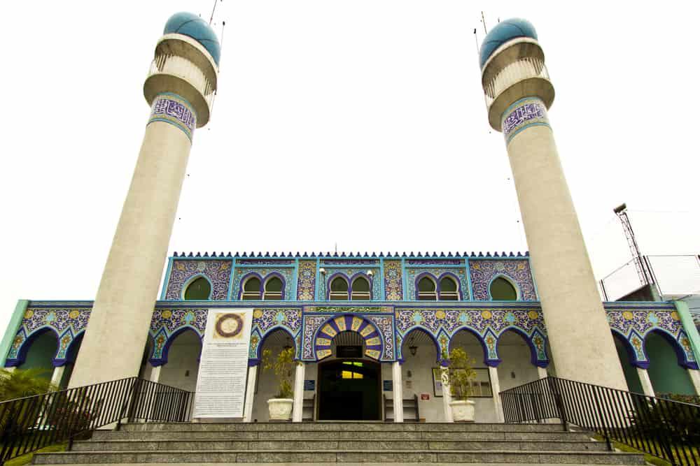 Facade of the mosque of Curitiba, Brazil