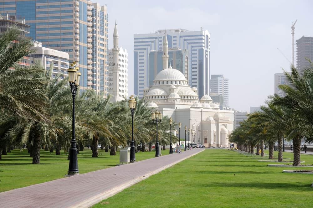 Al Noor Mosque in Sharjah City, United Arab Emirates