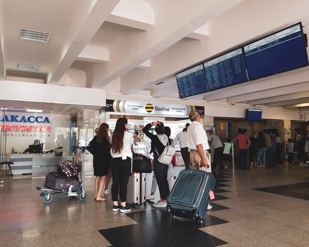 Getting a Sim Card in Manas International Airport in Bishkek