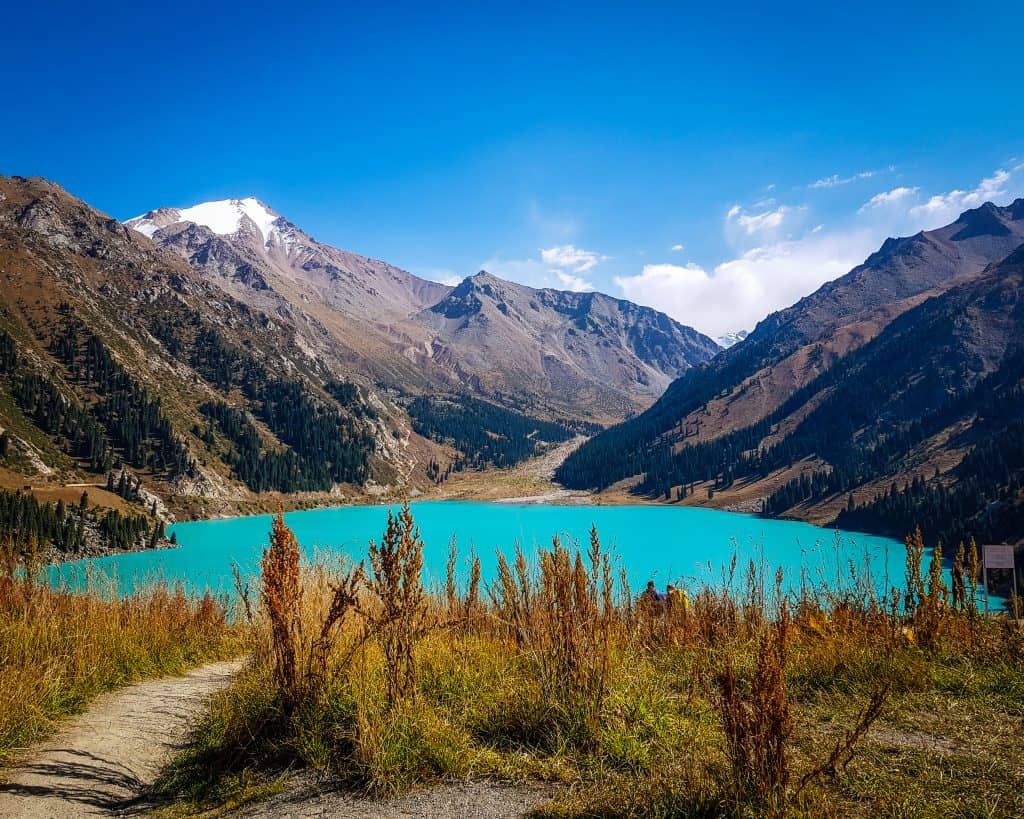 The gorgeous turquoise waters of Big Almaty Lake