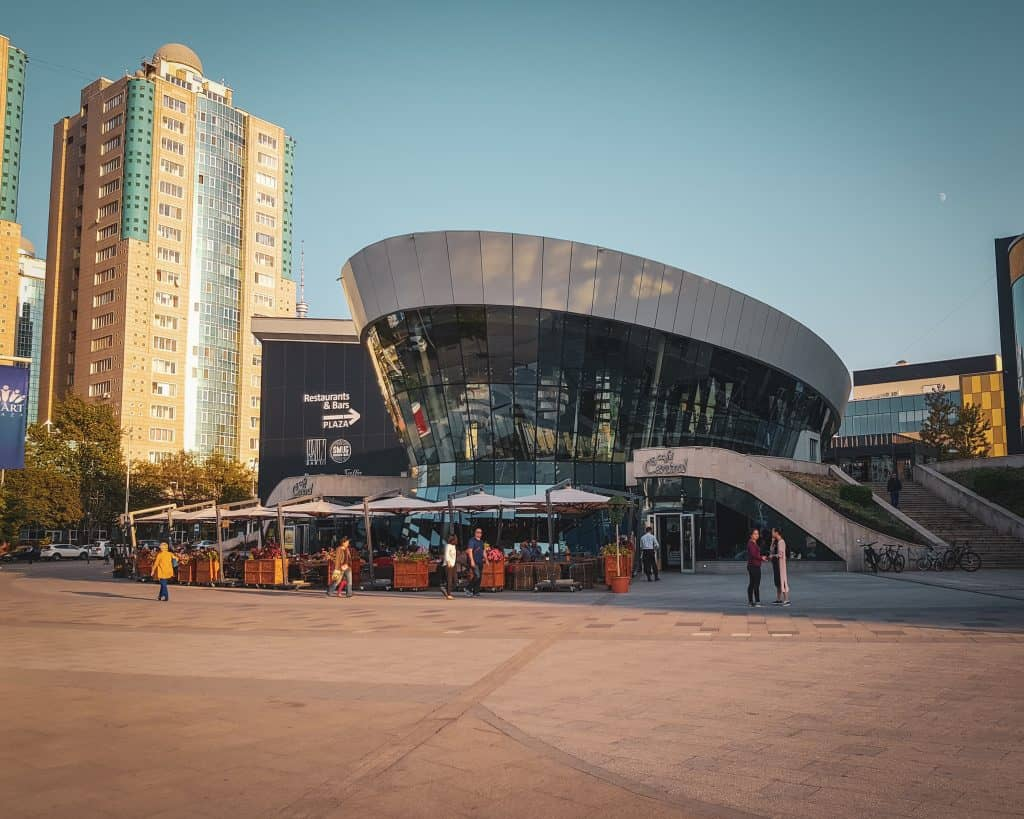 Dostyk Plaza could be a typical shopping mall in any city in the world.