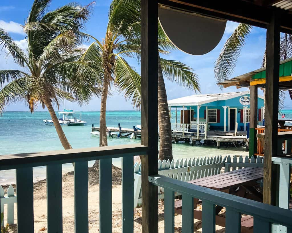 Belize - San Pedro - View from the Chocolate Shop