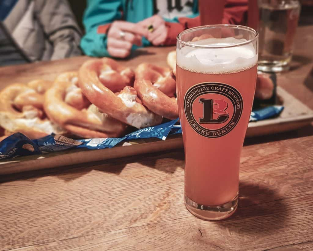 Germany - Berlin - Beer Tour Bar Bvarian Pretzel