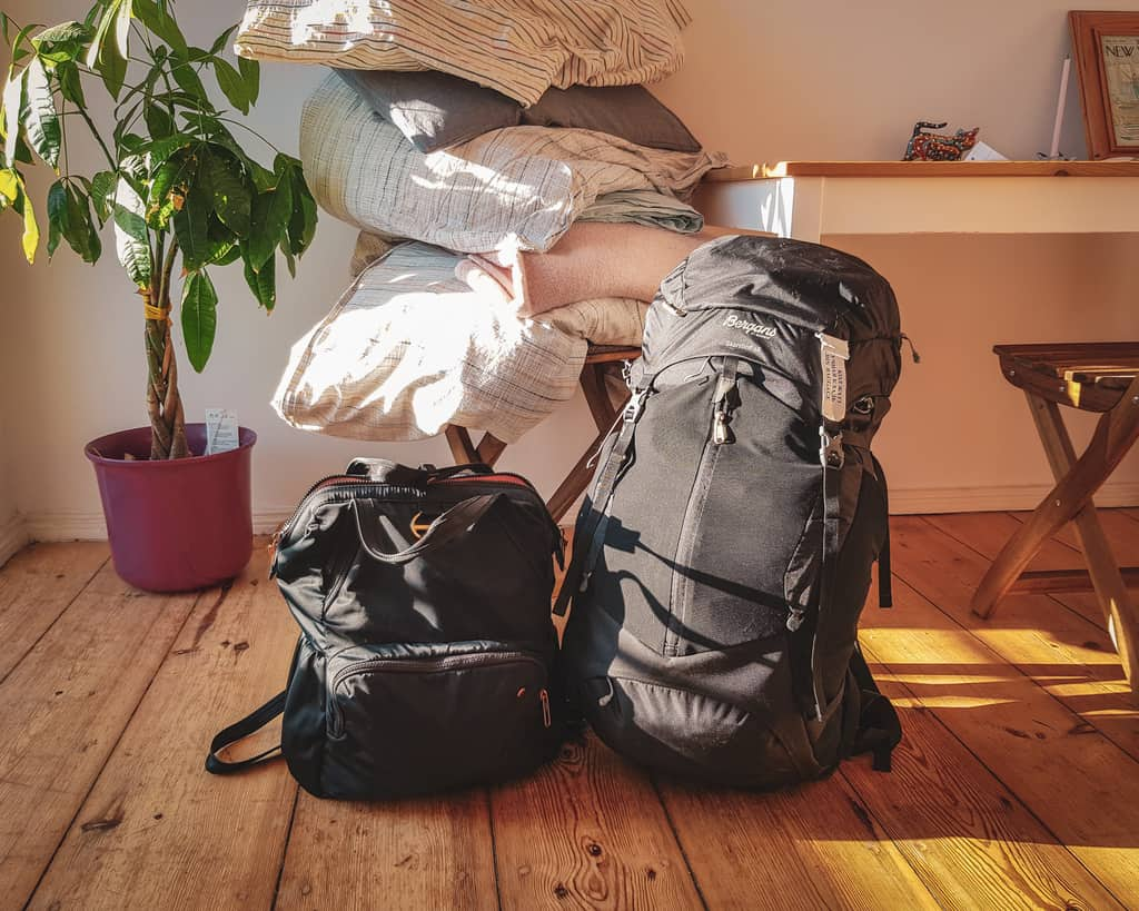 Germany - Berlin - Suitcase and Day Bag packing to leave