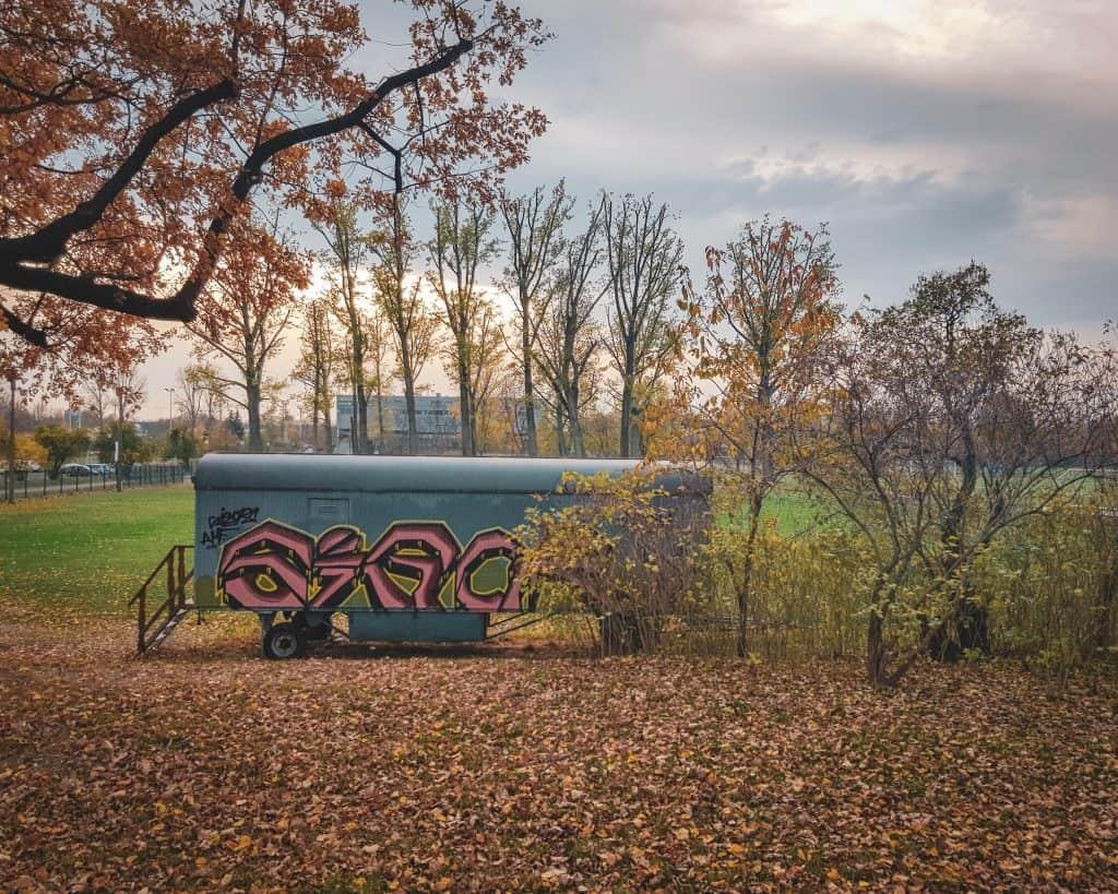 Germany - Dresden - Train Car Street Art