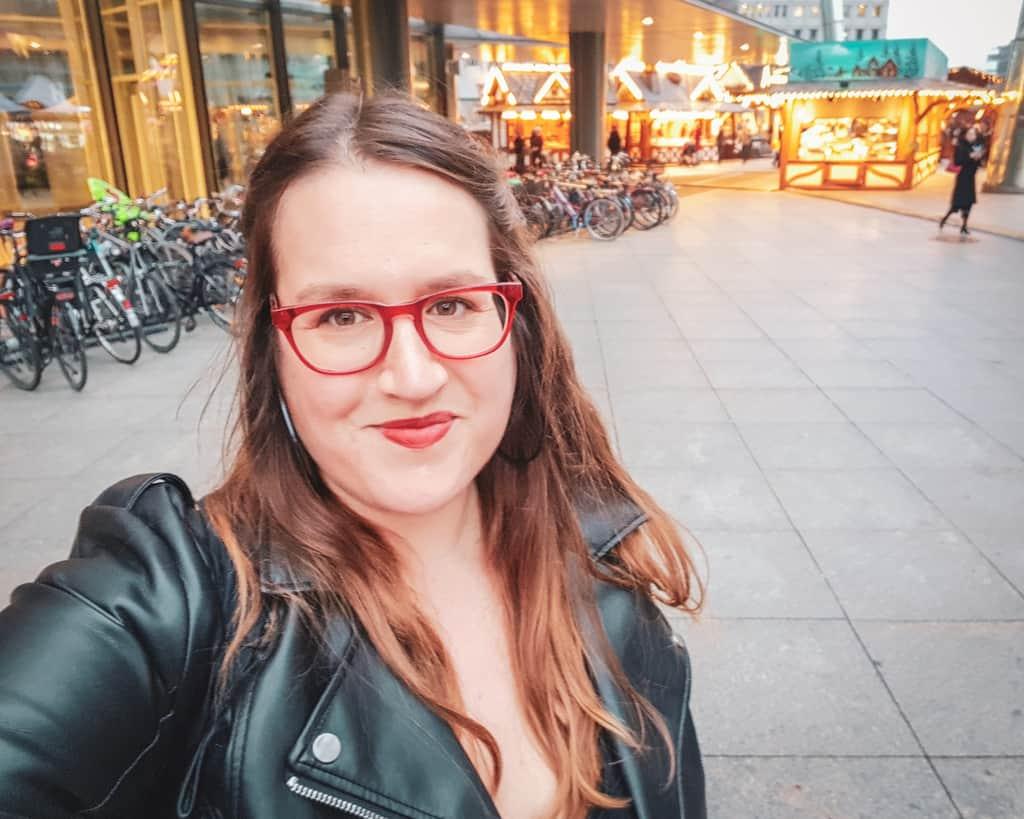 Germany - Berlin - Potsdammerplatz Christmas Market Selfie Stephanie