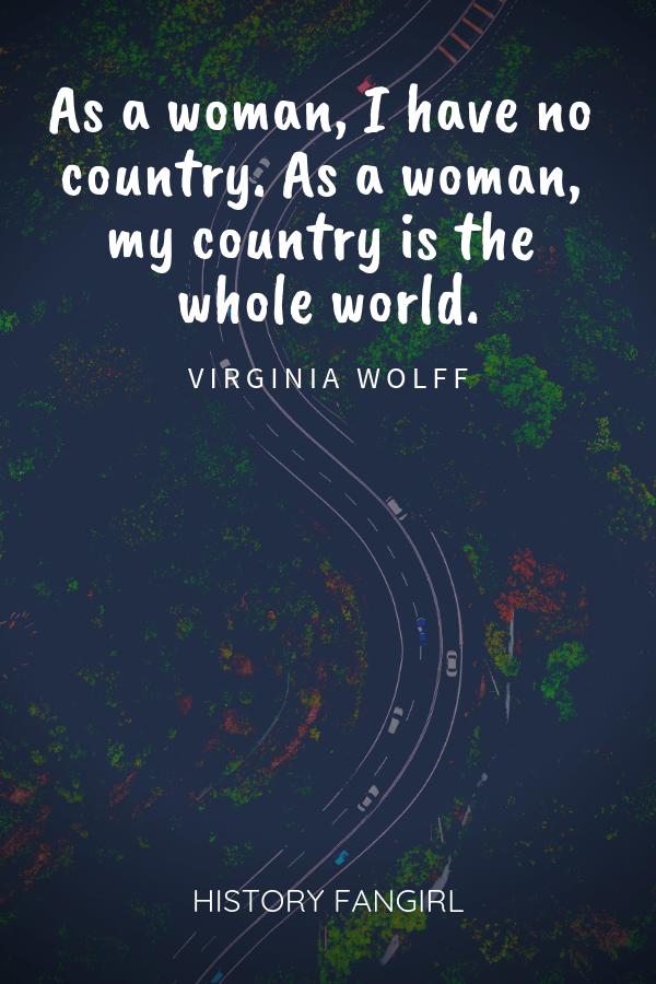 Virginia Wolff Female Travel Quote