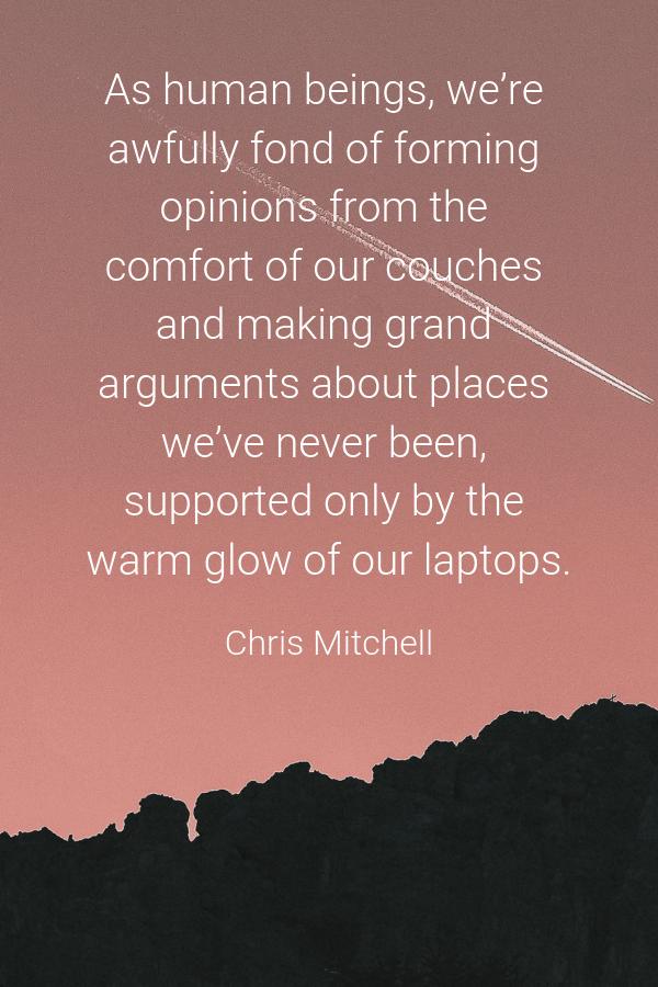 Chris Mitchell Travel Quote
