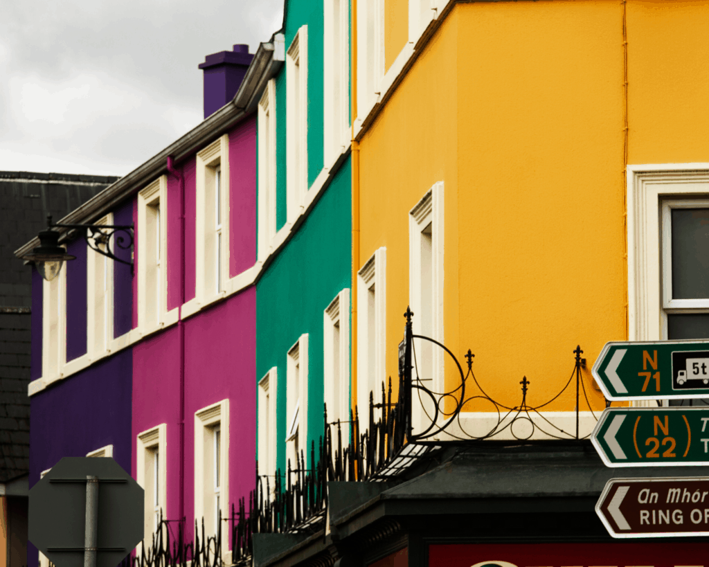 Ireland - Kenmare - Colorful Houses - Canva