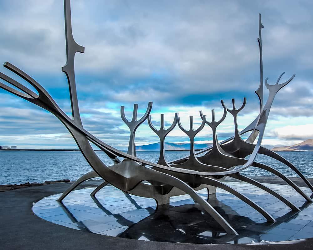 Iceland - Reykjavik - Sun Voyager Scuplture