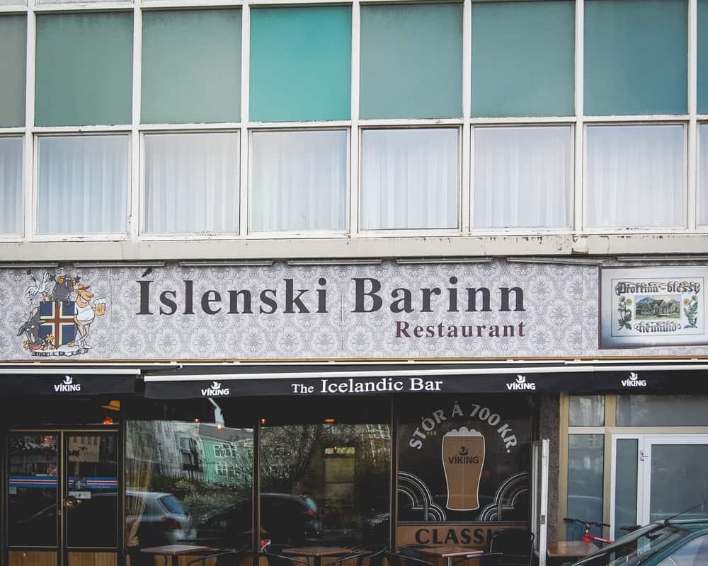 Iceland - Reykjavik - Islenski Barinn The Icelandic Bar