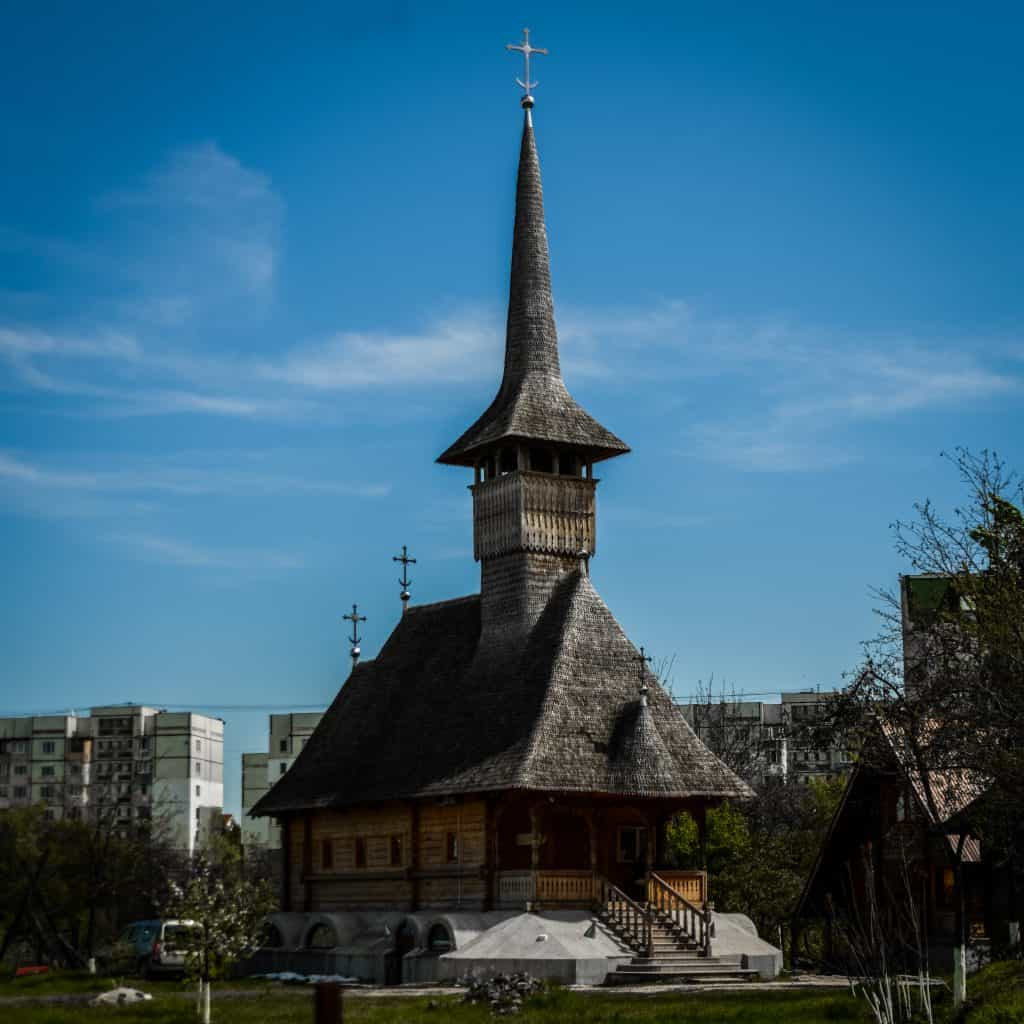 Moldova - Chisinau - The Village Museum in the Formation of Mary of Hiriseni Wooden Church