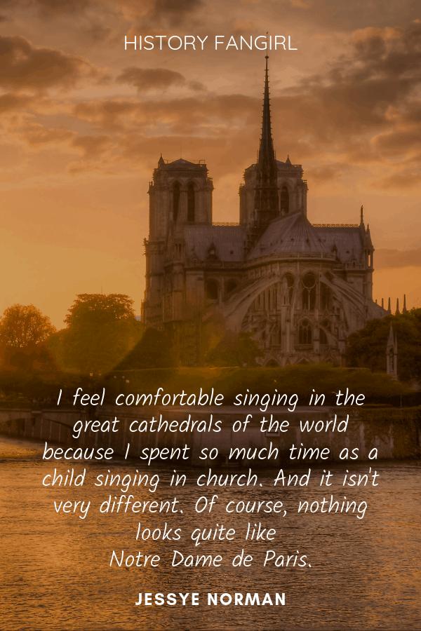 Great Cathedrals of Paris quote about Notre Dame de Paris