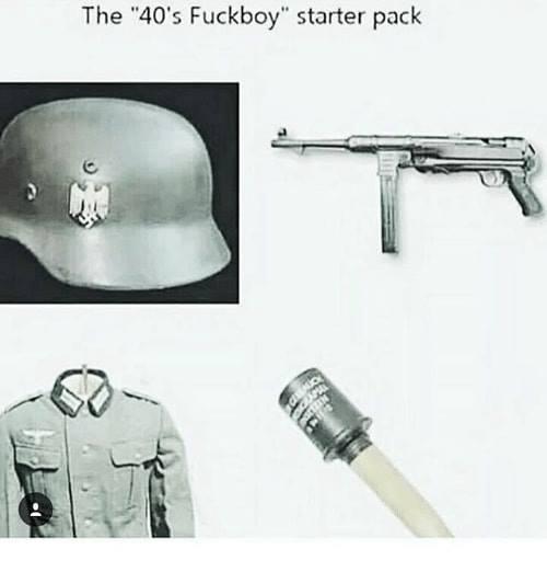 WW2 Meme Fuckboy Starter Pack Meme
