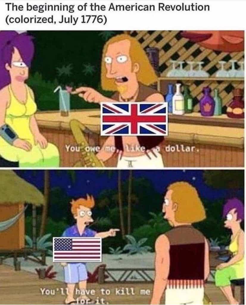 American Revolution Meme