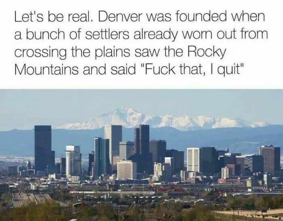 Denver History Meme