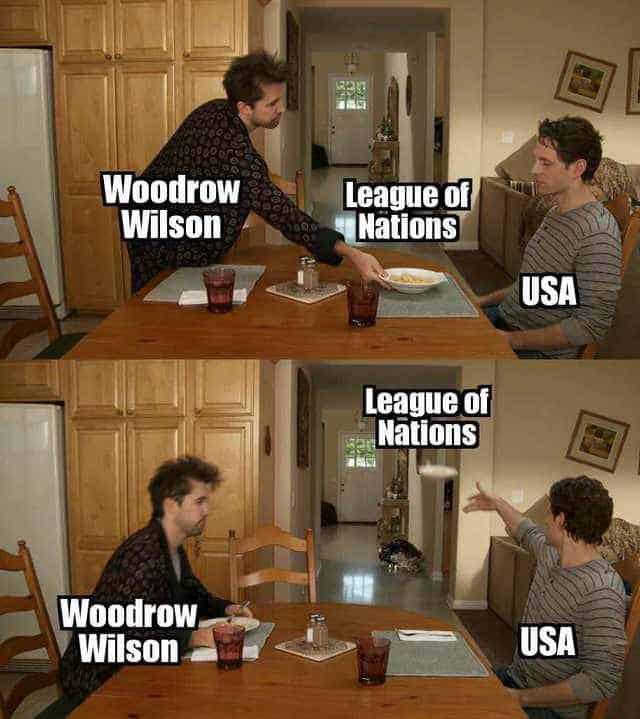 US History League of Nations Meme
